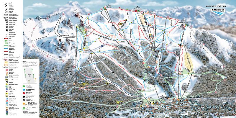 mapa Cerro Catedral