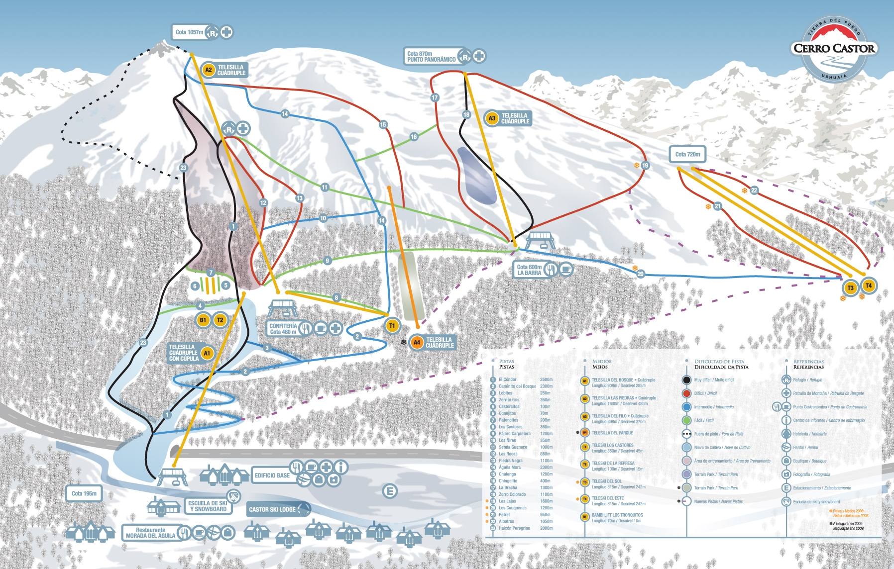 mapa Cerro Castor
