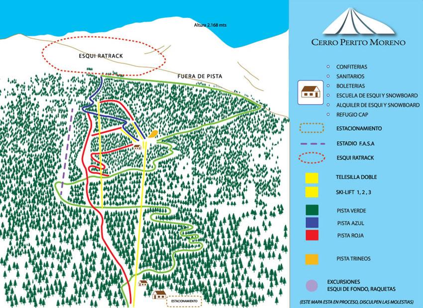 mapa Perito Moreno